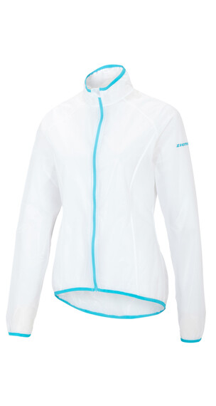 Ziener Ciba Rain Jacket Women white/pool blue